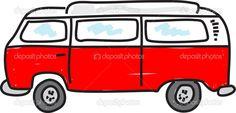 Funny cartoon camper van. — 图库矢量图像© Prawny #64297139