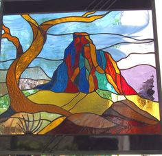 Stained Glass Window Pinyon Frames by stainedglassfusion on Etsy, $399.00