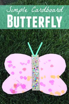 Toddler Approved!: Simple Cardboard Butterfly Craft for Toddlers