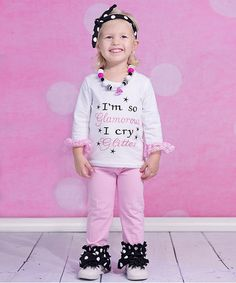 Love this Pink 'I'm so Glamorous' Tee & Pants - Infant, Toddler & Girls on #zulily! #zulilyfinds