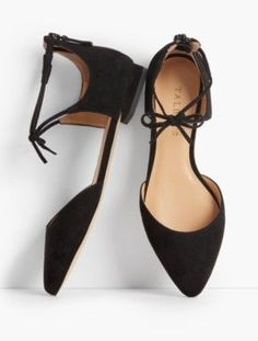 Talbots: Edison Tie Ankle D'Orsay Flats
