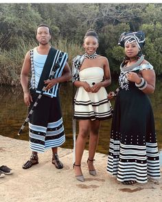 Check out these irresistible XHOSA DRESSES FOR COUPLES, They can be paired with the right blouse and you are good for all occasions Traditional Wedding Attire, African Traditional Wedding, Traditional Outfits, Xhosa Attire, African Attire, African Dresses For Women, African Fashion Dresses, African Print Pants, African Prints