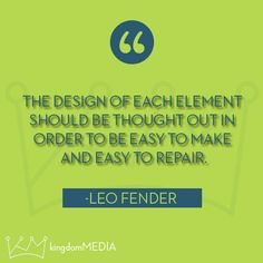 The design of each element...