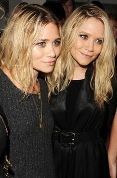 Mary-Kate & Ashley Olsen.