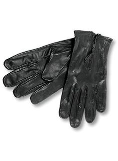 Interstate Leather Men's Unlined Biker Gloves (Black, Large) by Interstate Batteries. $20.06. These gloves are unlined with a zipper closure. Has a leather pull tab on zipper. Available in sizes Small to XX-Large.