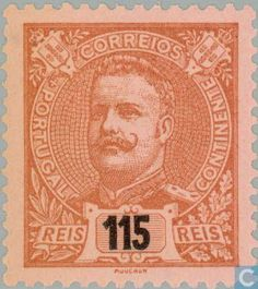 Portugal - Rey Carlos I Portugal, Family Roots, Portuguese, Postage Stamps, Vintage World Maps, Poster, 1, King, Collections