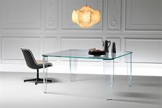 Fiam Italia Montefeltro Dining Table Glass 150Wx75Hx150CM / Fiam Italia Collection at www.mayfairhomefurniture.com