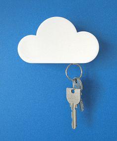 Magnetic Cloud Keyholder by British designer Duncan Shotton