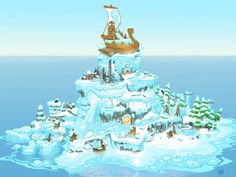 Donkey Kong Country Tropical Freeze Overworld Art