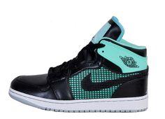 san francisco a8f3b bc2c1 Cheap Air Jordan 1 Retro AAA Men Shoes Black Green Jordan Ones, Jordan 1,