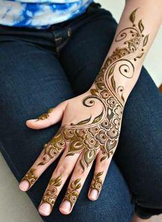Henna by Divya - Toronto, Ontario - Professional services - Photos Finger Henna Designs, Arabic Henna Designs, Beautiful Henna Designs, New Mehndi Designs, Henna Tattoo Designs, Mehandi Designs, Arabic Design, Henna Tattoos, Tatoos