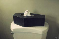 Coffin tissue holder!