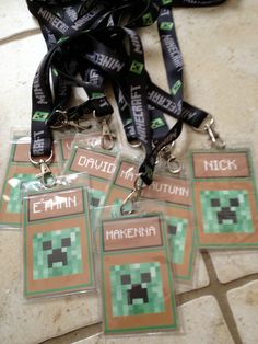 Minecraft party. My brother needs this!
