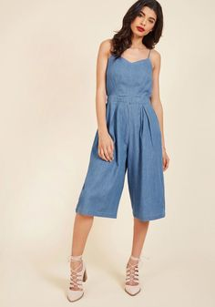 77efe0a86044 This chambray romper sees that you re suited up in style super-quick so  there s more time for admiring the scenery! Adjustable straps