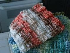 Basketweave Kitchen Washcloths | AllFreeCrochet.com  **free**