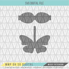 **This listing is an instant download - no physical copy will be sent to you.** This SVG file is perfect for DIY crafters who use faux leather to make hair bows. With this purchase you will receive one SVG digital file. Images will be sent without our grey logo overlay. These