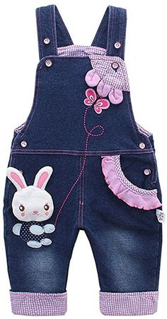online shopping for Kidscool Baby & Little Girls Rabbit Casual Soft Denim Overalls Jeans from top store. See new offer for Kidscool Baby & Little Girls Rabbit Casual Soft Denim Overalls Jeans Baby Girl Jeans, Girls Jeans, Baby Boy Outfits, Kids Outfits, Boys Pants, Girls Dress Up, Little Girl Dresses, Baby Dress, Cartoon Outfits
