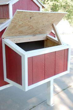 Nesting Box Propped Open