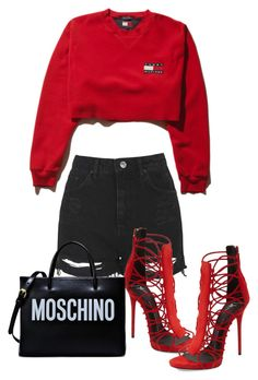 """""""Untitled #526"""" by jazz-mae on Polyvore featuring Topshop, Giuseppe Zanotti and Moschino"""
