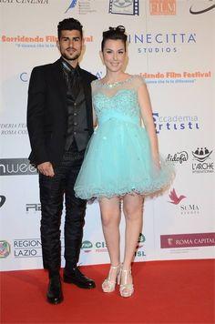 Micol Olivieri al Sorridendo Film Festival 2014 con il pancino