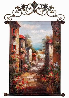 tuscan+style+christmas+decor | Tuscan Decorating with an Italian Streets of Venice Wall Canvas