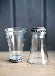 Flaskehals snapseglas