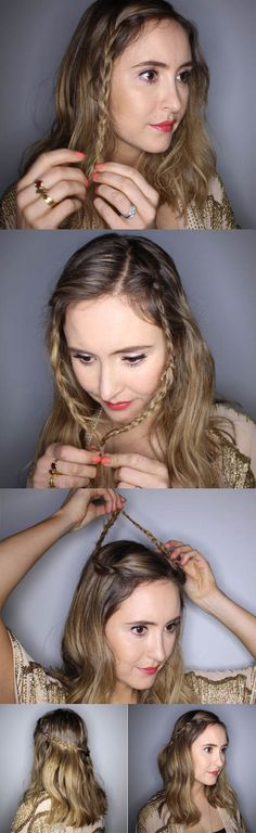 No-tools festival hairstyles: Easy peasy chain braid