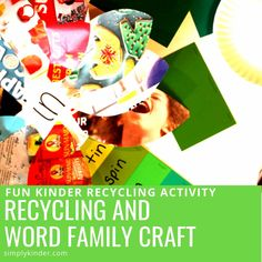 This is a fun and simple recycling project that can be used to celebrate Earth Day while practicing a word family. The bright colored flowers make a lovely spring decoration and can be used to create a recycled garden in the classroom by making this Recycling and Word Family Craft. Paint Sample Cards, Paint Samples, Teaching Kindergarten, Preschool, Teaching Calendar, Recycled Garden, Writing Words, Family Crafts, Old Magazines