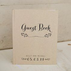 Custom Wedding Guestbook Guest Book  by starboardpress on Etsy
