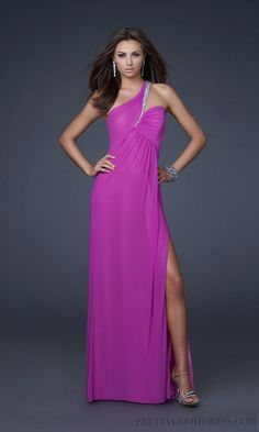 A-line One Shoulder Chiffon Military Ball Dresses