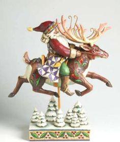 JIm Shore:  Santa on reindeer