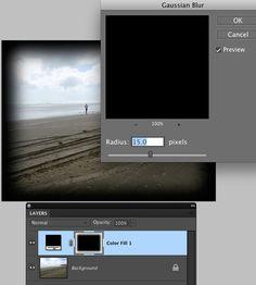 Photoshop Elements Tutorials - Burnt Edge Effect