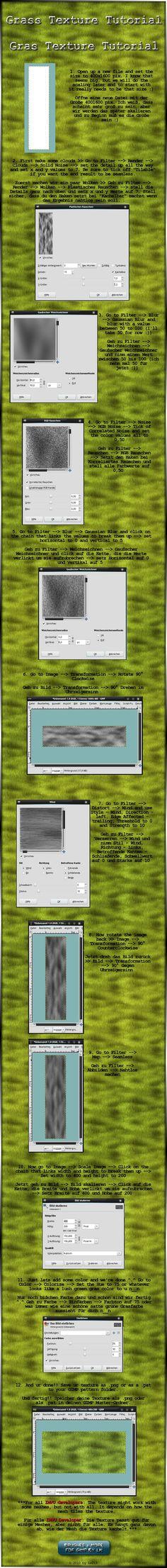 http://www.deviantart.com/art/GIMP-Grass-Texture-Tutorial-185264511