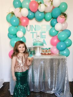 Little Baby Garvin: Harper's Mermaid Inspired 4th Birthday Party