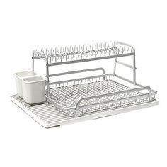 Cuisinart Dish Rack Delectable Steel Frame Dish Rack With Bonus Slim Sink Caddy  Dish Racks Steel Inspiration Design