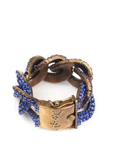 Blue Swarovski crystal bracelet from YSL