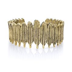 House of Harlow 1960 - House of Harlow 1960 Feather Row Cuff Gold