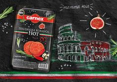Carnex Italian Sausage on Packaging of the World - Creative Package Design Gallery
