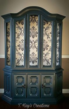 blue Chalk Finish Paint - Furniture & Cabinet Paint (32 oz., Denali) - - Amazon.com