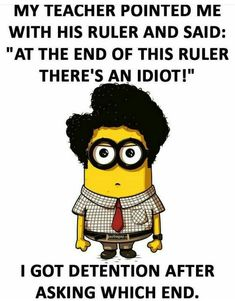 Here we have some of Hilarious jokes Minions and Jokes. Its good news for all minions lover. If you love these Yellow Capsule looking funny Minions then you will surely love these Hilarious jokes. Funny Minion Pictures, Funny Minion Memes, Funny Jokes To Tell, Funny School Jokes, Minions Quotes, Crazy Funny Memes, School Humor, Really Funny Memes, Funny Humor