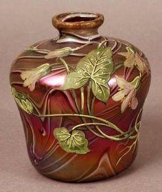 harrach striped vase