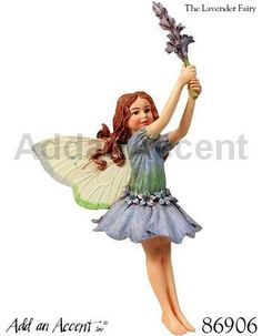 Cicely Mary Barker ~ Flower Fairy ~ Lavender Fairy Ornament - Z kolekce