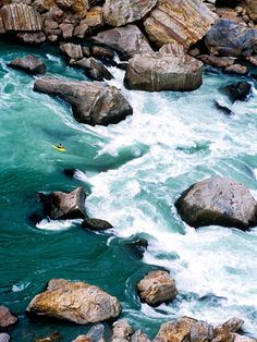 Only for daredevils, kayaking this near-uncharted river involves Class V+ whitewater, a 16,000 foot gorge, and views of Mt Everest. Yarlung Tsangpo, Tibet. #JetsetterCurator