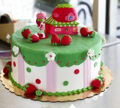 Dewey's Strawberry Shortcake cake - perfect for a kid's birthday! Cake # 045.