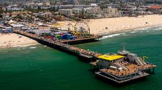 Santa Monica Pier viewed from above