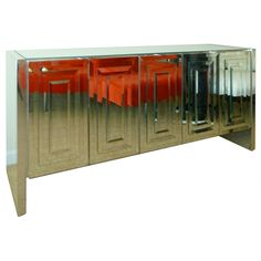 """1stdibs - Iconic Mirrored """"Ello"""" 5 Door Cabinet explore items from 1,700  global dealers at 1stdibs.com"""