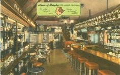 """House of Murphy - cocktail lounge at 410 S. San Vicente Blvd. 1940s. Their slogan was """"It's my life…I live it…I love it…criticism be damned."""" The House of Murphy was a nightclub as well as a restaurant, and specialized in corned beef and cabbage. It was owned by Bob Murphy, an actor who had been a """"singing emcee"""" in vaudeville and also had some work in the movies. He also owned Murphy's Cellar in NYC. He died in 1948, but the restaurant continued in business."""