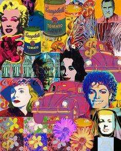 Andy Warhol Collage Art Print by Galeria Trompiz. All prints are professionally printed, packaged, and shipped within 3 - 4 business days. Collage Artwork, Mixed Media Collage, Cool Artwork, Elizabeth Taylor, Andy Warhol Flowers, Andy Warhol Pop Art, Ingrid Bergman, Art Pop, Michael Jackson