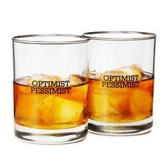 Optimist/Pessimist Glasses
