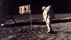 """They were seen on television screens across the nation as Apollo 11 landed on the moon and Neil Armstrong took """"one small step for man, one giant leap for mankind."""" Exactly 47 years after that historic day, Armstrong's familiar blue-tipped gloves and helmet are on display at the Smithsonian National..."""